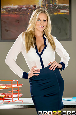 Office sluts Julia Ann and Tanya Tate share a cock