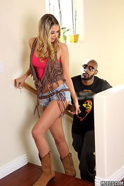 Alysha Rylee gets asshole stuffed with black dick