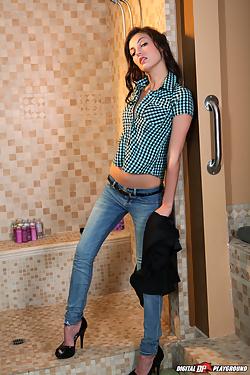 Alexis Venton gets fucked hard in the bathroom