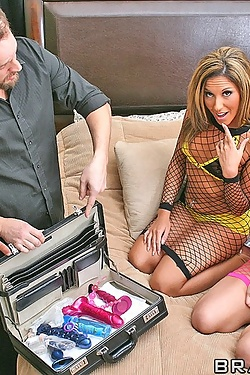 Adriana Deville shares male escorts for anal sex with Harmony Rose
