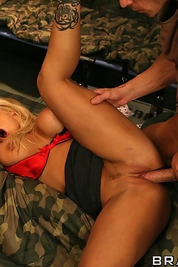 Shyla Stylez shows him how the rankings of the military really work