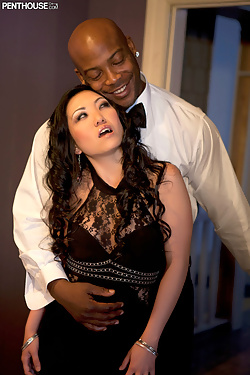 Kaiya Lynn sucking and fucking his huge black dick