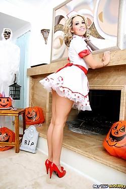 Jenny Hendrix strips out of her waitress uniform