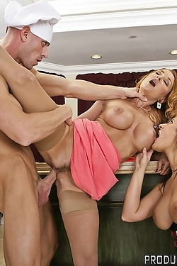 Janet Mason shares the waiter with Austin Kincaid