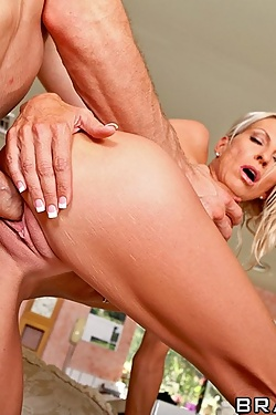 Emma Starr fucking the caretaker's cock in the summer cottage