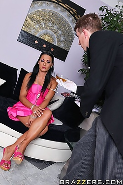 Sandra Romain receives an anal pounding from her butler