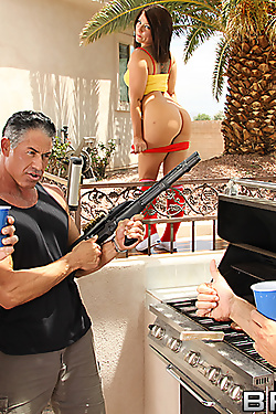 Casey Cumz gets double penetrated by two huge cocks