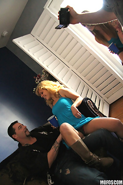Bailey Blue sharing cocks with Jayden Lee and Elizabeth Bentley