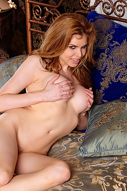 Candle Boxxx Naughty Naked Redhead Primps And Poses At Bedtime
