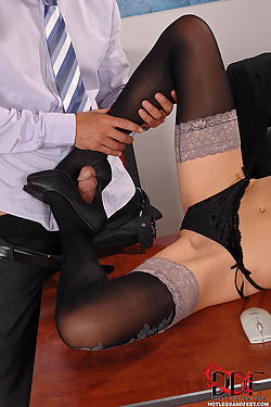 Boss gets a gorgeous blonde sex bunny in a box for Easter