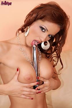 Angel Dark masturbating with her dildo and vibrator