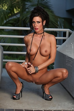 One of the sexiest porn stars ever, Jessica Jaymes shows off her toned naked body
