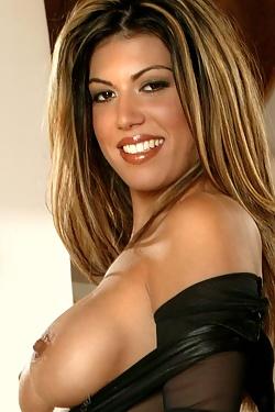 Angelee Kaye Sheer Bodystocking n Nice Tits
