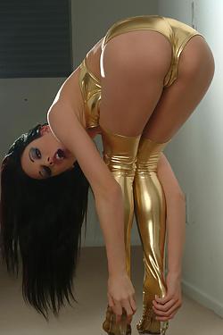 Taylor Rain Golden Boots