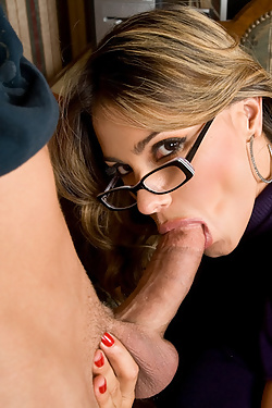 Hot Latina Professor Esperanza Gomez rides her students hard cock