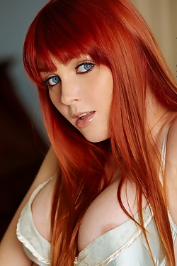 Marie McCray Virgin Fox Redhead with Blue Eyes n Nice Tits