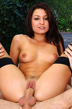 Ann Marie Rios in Stockings Mounting a Stiff Cock